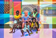 Explosion de couleurs / Des tableaux colorés et des œuvres abstraites tape à l'œil