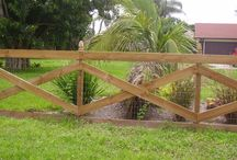 Clôture portes de jardin
