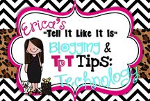 Blogging & TpT Technology Tidbits / Super tech tips and blogging ideas that I need to REMEMBER!