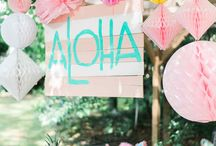 Tropical Luau Party / Inspiration for a backyard Tropical Luau or summer BBQ Party