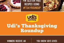 Udi's Gluten Free #TDAYROUNDUP / You have the power to control the 2013 GF Menu for the Udi's and Boulder Brands Thanksgiving Party!   Pin your favorite recipes using #TDAYROUNDUP and we'll add our favorite appetizers, sides, main dishes, desserts, etc. to this board.   Top recipes will be featured on our official menu and win an Udi's Ultimate Turkey Day Prize Pack!  Get creative!