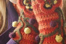 guantes crochet y pallilo