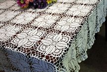 Crochet tablecloths and bedspreads