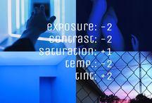 Instagram themes. / VSCO cam.