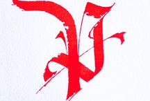 Lettres calligraphiées