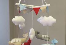 Baby Mobiles! / Get your baby's imagination going with our custom made baby mobiles! From Hot Air Balloons to Bunnies and Hearts, we have everything!   Looking for something different? Email us at info@StudioCollection.co.za