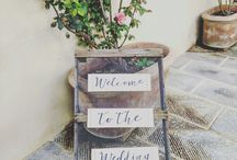 Our signs / All signs are hand made by @tuscanylovesweddings or ourselves.