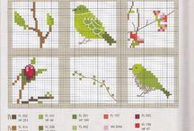 Křížková výšivka Ptáčci a zvířátka