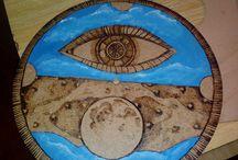 Mandaly Margita / Mandaly , ruční práce, pozitivní energie, obrázky vypalované do dřeva