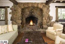 keeping room, stone fireplace, loft