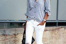 camisa rayas azules verticales