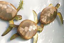 Copper turtles / 3 copper turtles