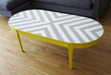 painted designer coffee table