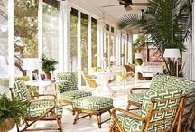 sun rooms / Full light rooms, solariums, screened in porches, decorating ideas and room uses / by Elisa Smith