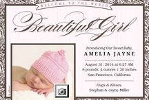 Birth Announcements / A collection of modern and stylish birth announcements.