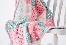Crochet patterns and baby rugs.