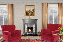 A Warm Living Room in Winter