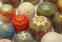 Temari and Kirikane balls