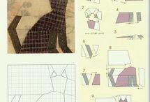 bloky k šití přes papír