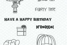 """""""Wish Big"""" Stamp set / Projects and Creations using the WISH BIG rubber stamp set"""