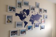 Photo Wall with Map