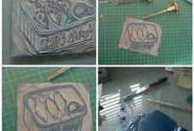relief printing / Woodblock, linoleum, softoleum, collograph...