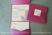Lovely invitations from Fat Cat Paperie