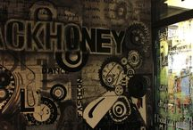 Blackhoney Fashion Studio / #Creative #Interiors #hand painted at #Blackhoney #fashionstudio