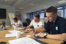 Lestercast Staff - Working hard! / Staff, training and developing, working hard, playing hard - the Lestercast team are a close-knit one and when working hard, they like to play too!