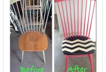 Chevron chair / Super fun and cute chair I made for my daughters bedroom. / by Letty Bowen Harris