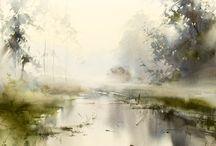 watercolour scenery