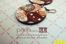 Aros con diseño♥pink
