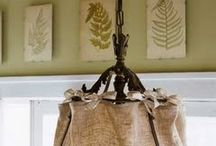 Burlap DYI Ideas/Drop Cloth