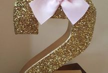 Minnie Mouse gold pink birthdays  party