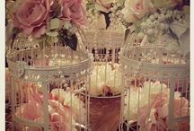 Bird cage floral arrangements