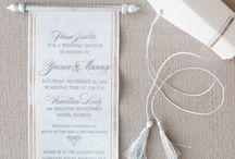 Scroll invitations / Regal scroll invitations at www.daniellebehardesigns.com