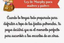 Ley de Murphy para madres y padres
