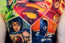 Comic tattoos