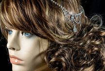 WEDDING BRIDAL HAIR CHAIN & FOREHEAD JEWELRY | Crystal / BelovedSparkles.com | Couture Bridal Hair Accessories Swarovski Crystal - Tiara, Hair Comb, Headband, Hair Tie, Hair Chain