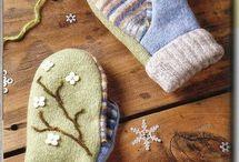 Варежки своими руками / Шитье варежек из ткани,  меха. Вязание варежек и перчаток