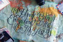Lettering I Love / Handlettering, arranged type, lettering inspiration...