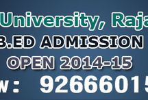 B.Ed Admission Form 2014-15 / Apply Online B.Ed Application Form for B.Ed Degree Course Admissions for session 2014 –2015. Fill B.Ed enquiry form and get 100% admission for session 2014-2015. Aspirants who failed to get B.Ed admission in MDU now apply here for B.Ed in Dr. C.V.Raman University, Jodhpur National University, Singhania University and Pacific University. Join B.Ed now save your precious one year