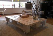 Pallets becoming furniture / Leuke meubels gemaakt van pallets