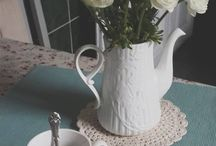 For your tea time... / Crocheted, knitted handmade products for your tea time.
