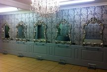 Wall panelling ideas for hairdressing salons / Wall panelling