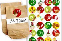 DIY Adventskalender mit Papiertüten und Aufkleberzahlen zum selber dekorieren / Hier möchte ich unsere DIY Adventskalender mit Papiertüten und Aufkleberzahlen zum selber dekorieren vorstellen.