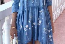 Bestickte Kleider romantische