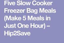 Fast Freezer Bag Crockpot