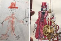 Creative Dad Turns Son's Doodles Into Awesome Anime Characters