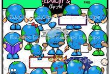 Educlips Environment & Community Clip Art / Graphics sets about the environment and community.